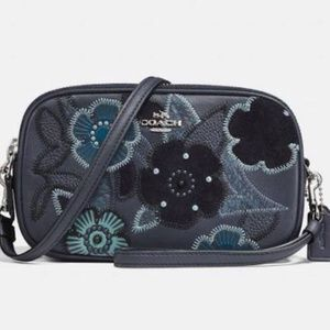 Crossbody with Patchwork Tea Rose and Snakeskin